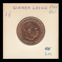 Sierra Leone 1964 High Grade One Cent Coin km17- See Scans and Judge 4 Yourself