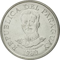 Paraguay, 50 Guaranies, 1980, MS(65-70), Stainless Steel, KM:169