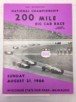 vtg National Championship 200 Mile Car Race Program 1966 August 21st
