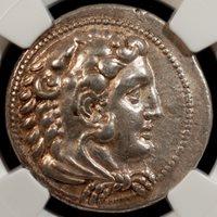 336-323 BC Kingdom of Macedon, Alexander III AR Tetradrachm NGC XF, Strike 5/5, Surface 4/5