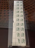 2941 .55 Hamilton. Plate Strip Of 20. Lower Left Two Stamps Obstruction Of Print