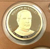 2013-P-William-McKinley-Presidential-Dollar Roll~Head~Tail~