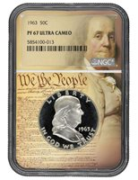 1963 FRANKLIN NGC PF 67 ULTRA CAMEO- We The People