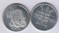 YAP island (MICRONESIA) 1/- (One Shilling) 2020, unusual coinage