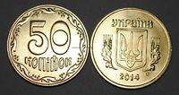 2014 Ukraine 50 Kopiyok Coin BU Very Nice KM# 3.3c