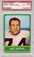 1963 Topps Frank Varrichione #42 PSA 8