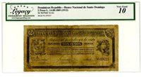 Dominican Rep ... P-S142 ... 2 Pesos ... 14.08.1889 (1912) ... *VG-F*.