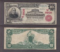 Fr#615 $10 KS 1902RS F+/VF FNB of Scott City, C#W8808, S#93/U432134, Good hand signatures in the left panel faded in the right. Red Seal colors are still unfaded and the borders fast. This is the ONLY $10 RS and I have owned it for over 20 years. The $5 RSs on this bank have sold for what I am asking for this rarer $10 and more and they are more common.