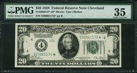 Fr No.2050-D* $20 FRN 1928 PMG 35
