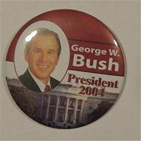 George W bush President 2004 Campaign Button