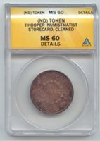 Canada, Token, J. Hooper Numismatist, ANACS MS-60 Details, Scarce, Breton 777