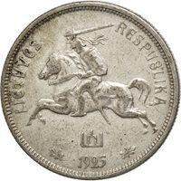 Lituanie, 5 Litai 1925, KM 78