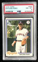 1978 Topps Gaylord Perry #686 Baseball Card Texas Rangers PSA 8 NM-MT