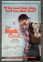 Blank Check 1994 James Rebhorn Bonsall Duffy Disney Video PROMO Poster EX