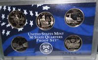 2003 s Clad Proof 5 Coin Set State Quarters in Mint Plastic Case no box or coa