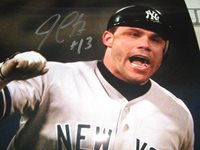 LOT OF 2 JIM LEYRITZ NEW YORK YANKEE AUTOGRAPHED 8X10 PHOTOS W/INSCP