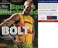 A Usain Bolt Signed 11x14 Photo Rio Olympics Fastest Human Ever 1 PSA/DNA COA