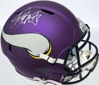 ADRIAN PETERSON #28 MINNESOTA VIKINGS SIGNED F/S FOOTBALL HELMET PSA/DNA ALL DAY