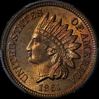 1861 Indian Cent PCGS MS65 Great Eye Appeal Fantastic Luster Strong Strike