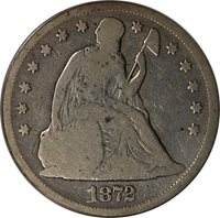 1872 Liberty Seated Dollar PCGS VG08