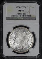 1884-CC $1 MS65 NGC