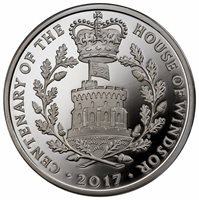 2017 Great Britain Centenary: House of Windsor Silver Proof £5 28.28 Grams