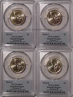 2016 P & D Ronald Reagan Presidential Dollar 4 Set $1 PCGS MS67 Position A & B