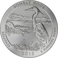 2015-P PCGS SP-69 America the Beautiful 5 oz Silver Specimen – Bombay Hook