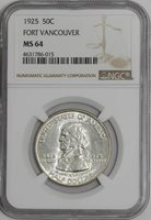 1925 Fort Vancouver 50c #939680-28 MS64 NGC