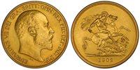 BRITAIN Edward VII 1902 AV Five Pounds. PCGS PR64 Matte SCBC-3965; Fr.-398a