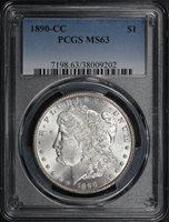 1890-CC $1 MS63 PCGS