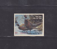 State Hunting/Fishing Revenues - IN - 1991 Game Bird Habitat INH-12 ($6.75) MNH