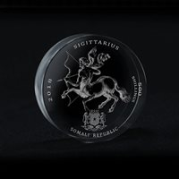 Somali Republic 500 Shillings,Signs of Zodiac Sigittarius Crystal Coin 2018,Rare