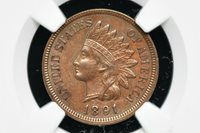 1891 Indian Head Penny NGC AU Details