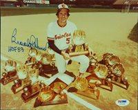 "Brooks Robinson Signed 8x10 Gold Gloves Photo ""HOF 83"" (PSA/DNA)"