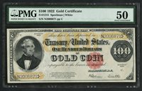 FR1215 $100 1922 GOLD PMG 50 (LOOKS AU) GREAT COLOR & CENTERING F / B WLM5633