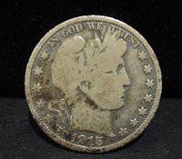 1915 Barber Silver Half Dollar - VG+ ENN COINS