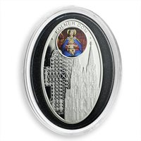 Niue 1 dollar gothic Cathedral Cologne cathedral proof silver coin 2010