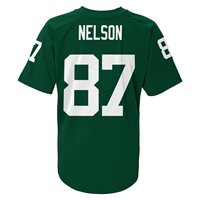 Green Bay Packers NFL Nelson #87 Green Boys 4-7 Player T-Shirts/Jerseys: S-L