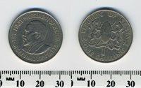 Kenya 1978 - 1 Shilling Copper-Nickel Coin - President Mzee Jomo Kenyatta - #1