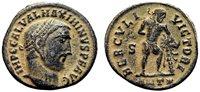 *AET* MAXIMINUS II DAIA AE Follis. EF-/EF. Antioch mint. HERCVLI VICTORI. Scarce