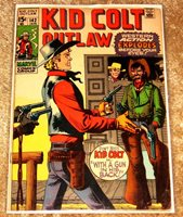 MARVEL #144 KID COLT OUTLAW MID HIGH GRADE + FREE BAGGED & BOARDED NICE BOOK