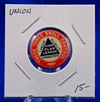 """These Three Shall Control Labor Public Management Union Pin Pinback Button 7/8"""""""