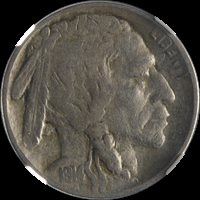 1914/13-P Buffalo Nickel NGC VF25 Nice Eye Appeal Nice Strike