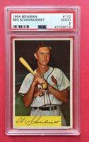 1954 Bowman Red Schoendienst #110 Baseball Card St. Louis Cardinals PSA 2 GOOD