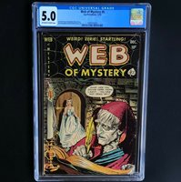 WEB of MYSTERY #6 (Ace 1951)  CGC 5.0 OW-W  Bride & Witch CVR! PCH