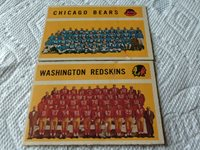 1960 TOPPS BEARS / REDSKINS * LOT TOTAL OF 2 * FOOTBALL TEAM CHECKLISTS
