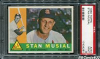 1960 Topps #250 STAN MUSIAL HOF! PSA 9 MINT NONE higher! Cardinals