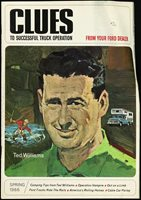 1966 Ted Williams Boston Red Sox Clues Magazine