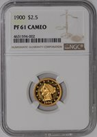 1900 $2 1/2 Gold Liberty #939099-11 PF61 Cameo NGC